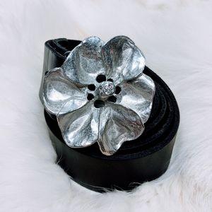 B-Low The Belt Leather Belt Silver Buckle